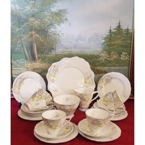 Royal Stafford Fresian 21 piece tea set