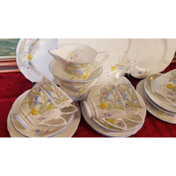 Royal Stafford Fresian 21 piece tea set