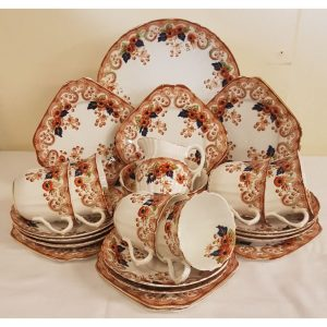 24 Piece Antique Bells fine bone china Tea/Breakfast set.