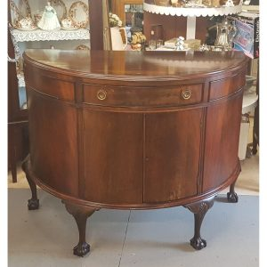 Mahogany Side Cabinet on Ball and Claw feet