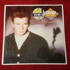 """Rick Astley. 12"""" vinyl lp."""
