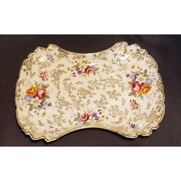 "Staffordshire ""Moreton"" pattern Sandwich/Cake plates"