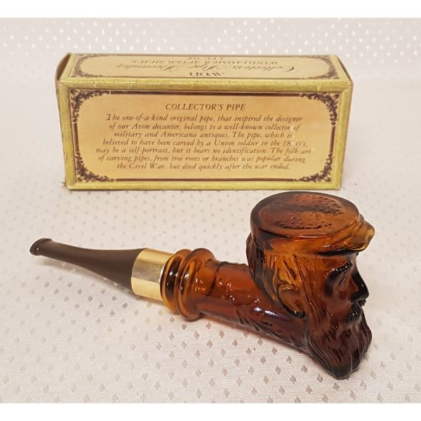 """Aftershave Lotion brown glass """"Old Man Pipe"""" decantor"""