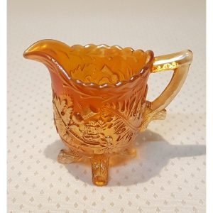 Vintage Sewerby Retro Carnival Glass footed jug