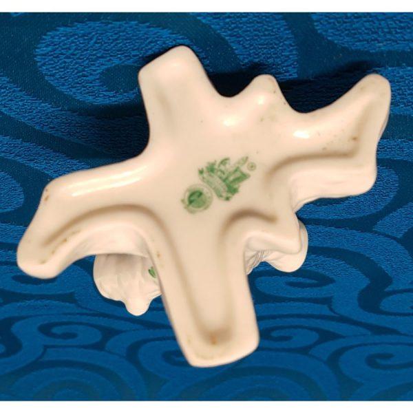 Belleek Porcelain Triple Tree Trunk with Shamrocks Bud vase