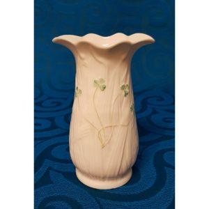 Belleek Porcelain Vase with Shamrocks