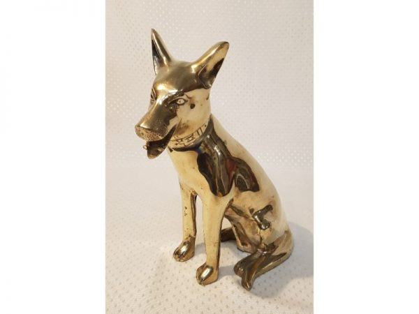 Heavy Brass Dog