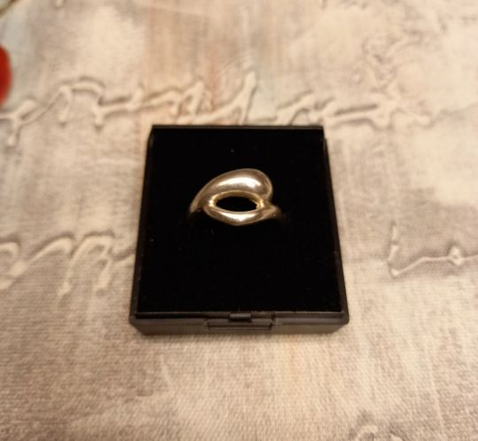 Silver (925) dolphin ring. Size O.