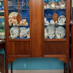 Brass Inlaid Display Cabinet