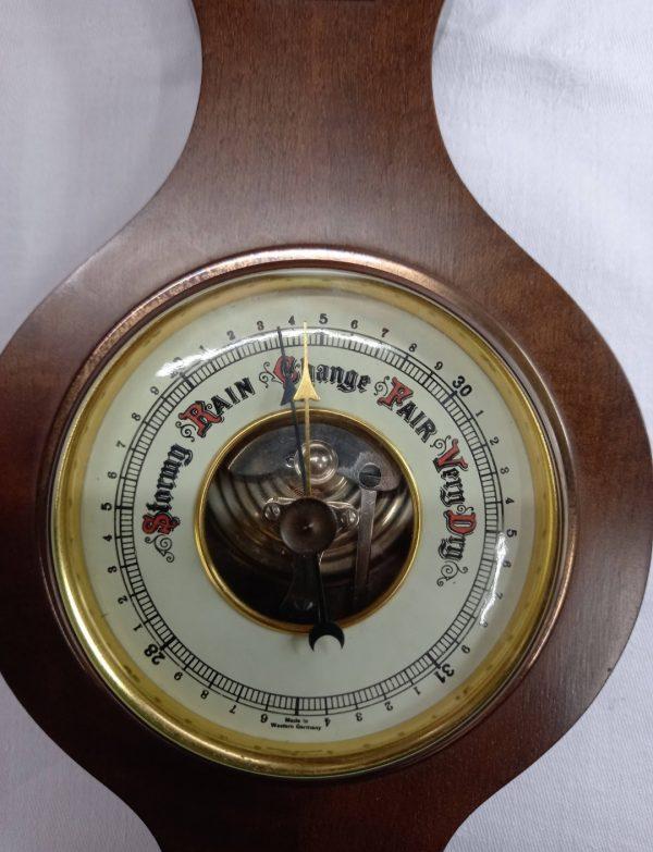 Vintage mahogany aneroid barometer