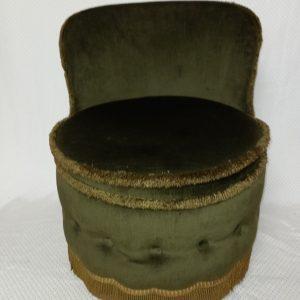 Mid-century Green velvet/dralon Sherborne toad/bedroom chair